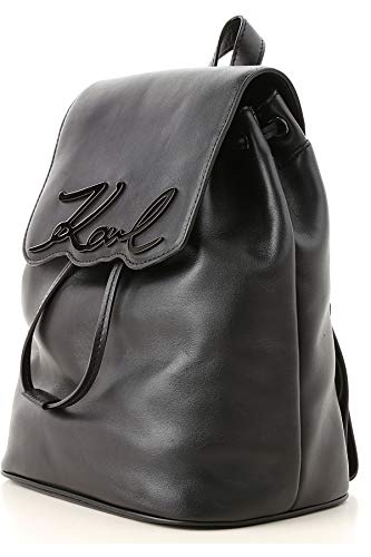 Karl Lagerfeld – Damen Schwarz Leder Rucksack - 2